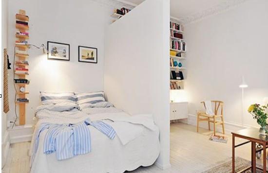 純白簡約臥室裝修設計