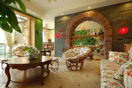 美式田园风格的客厅是宽敞而富有历史气息